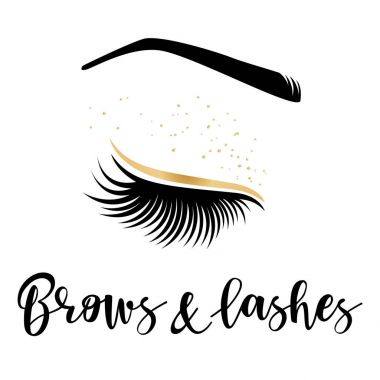 Brows and lashes gold logo