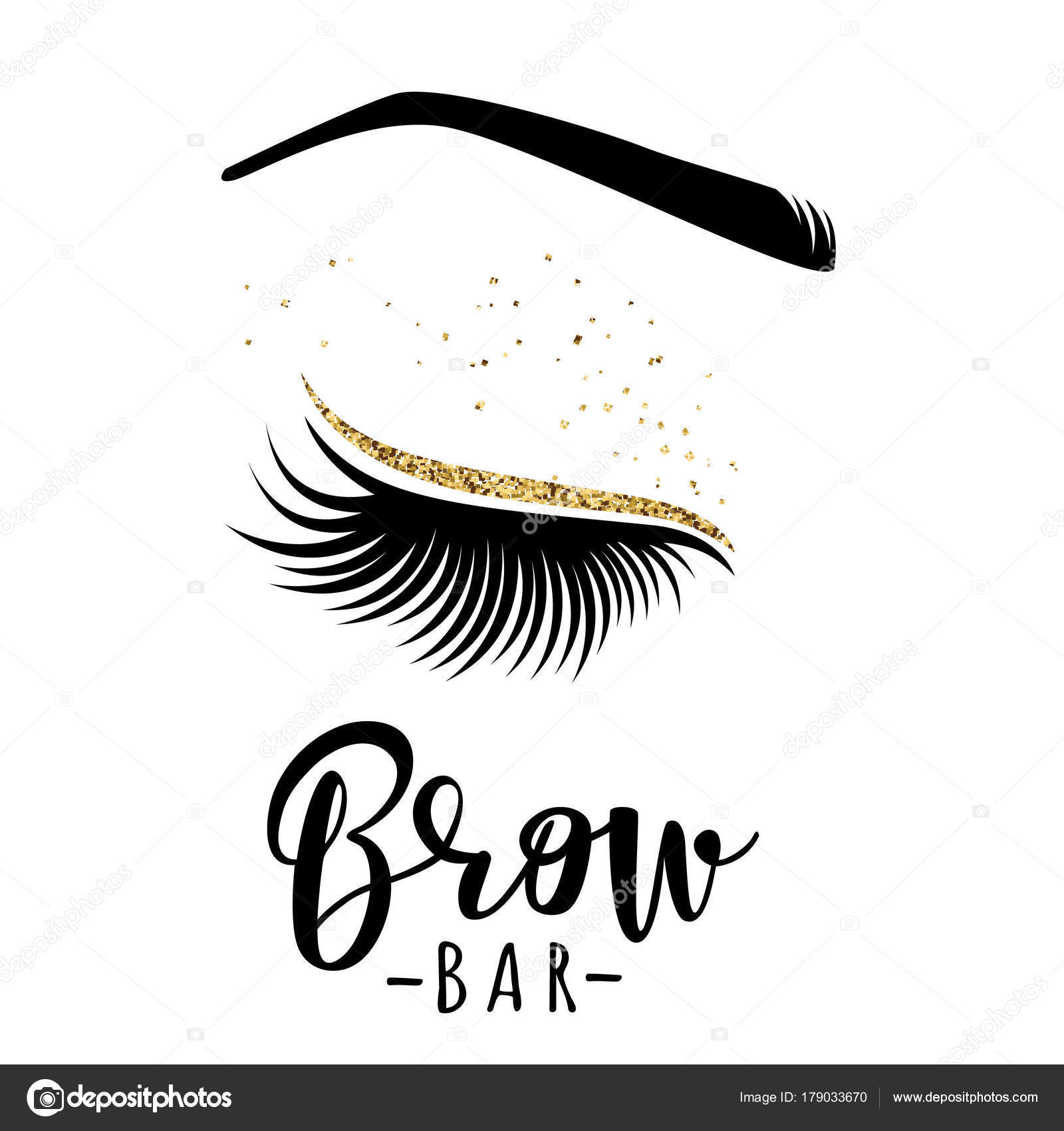 1c845a3387e Brow bar logo. Vector illustration of lashes and brow. For beauty salon,  lash extensions maker, brow master. — Vector by Volchonok