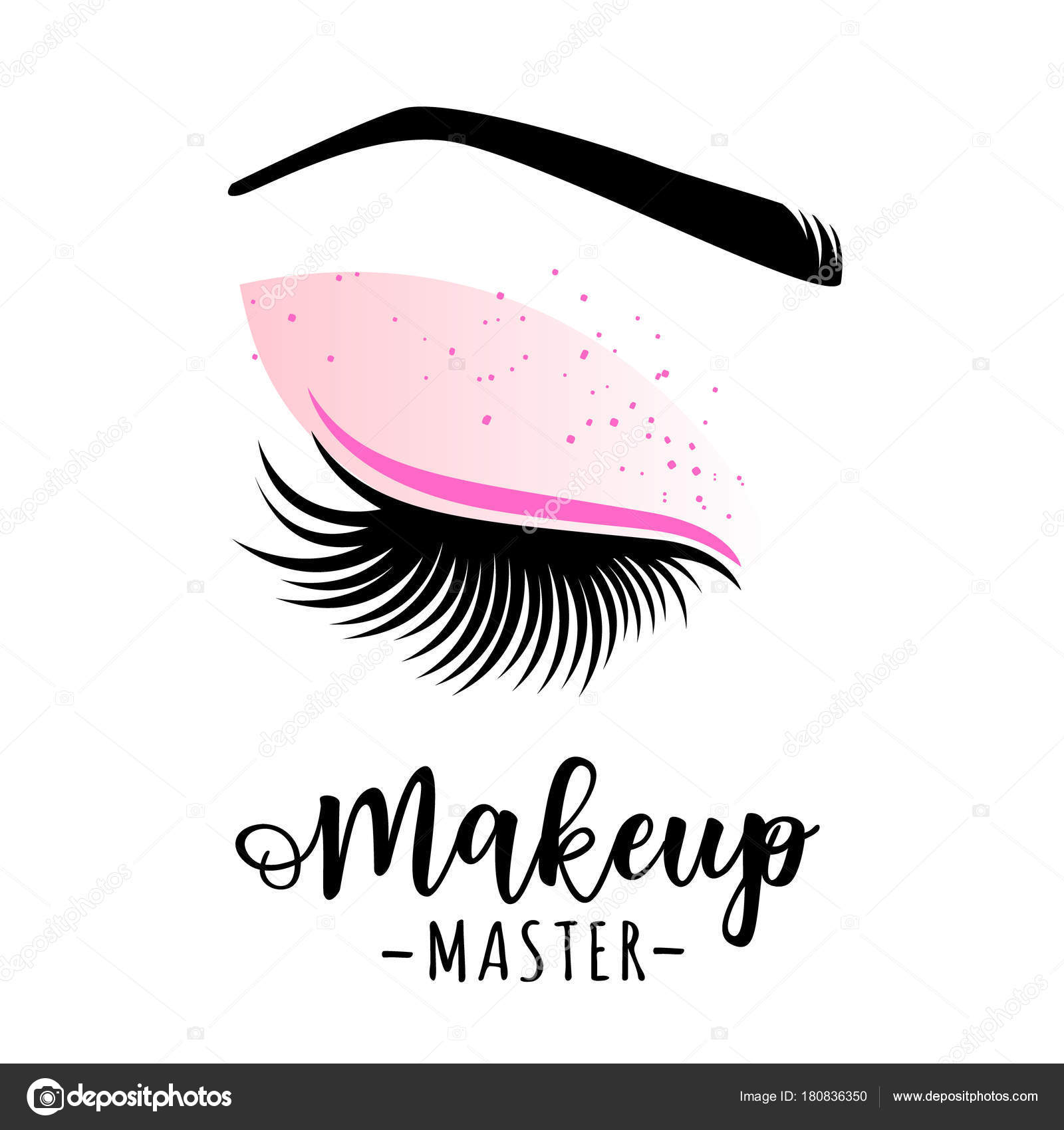 7dd1ead318e Makeup master logo. Vector illustration of lashes and brow. For beauty  salon, lash extensions maker, brow master. — Vector by Volchonok