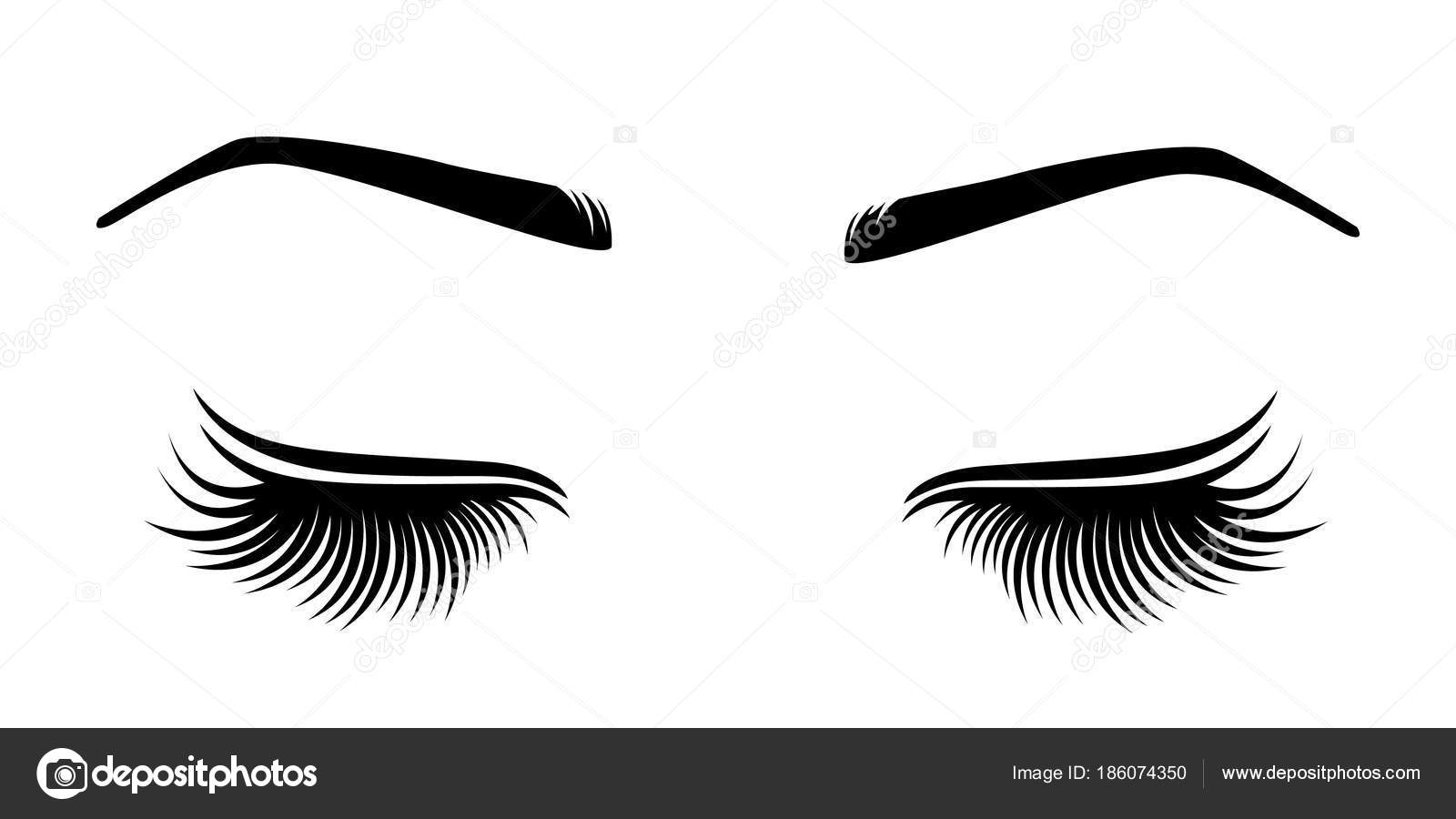 ea8caab5455 Vector illustration of lashes and brow. — Stock Vector © Volchonok ...