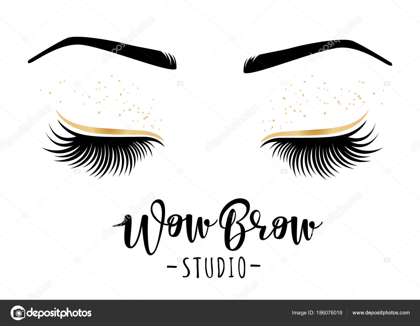 b920341a046 Brow studio. Vector illustration of lashes and brows. For beauty salon, lash  extensions maker, brows master. — Vector by Volchonok