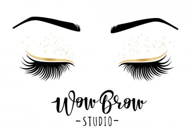 Vector illustration of lashes and brows