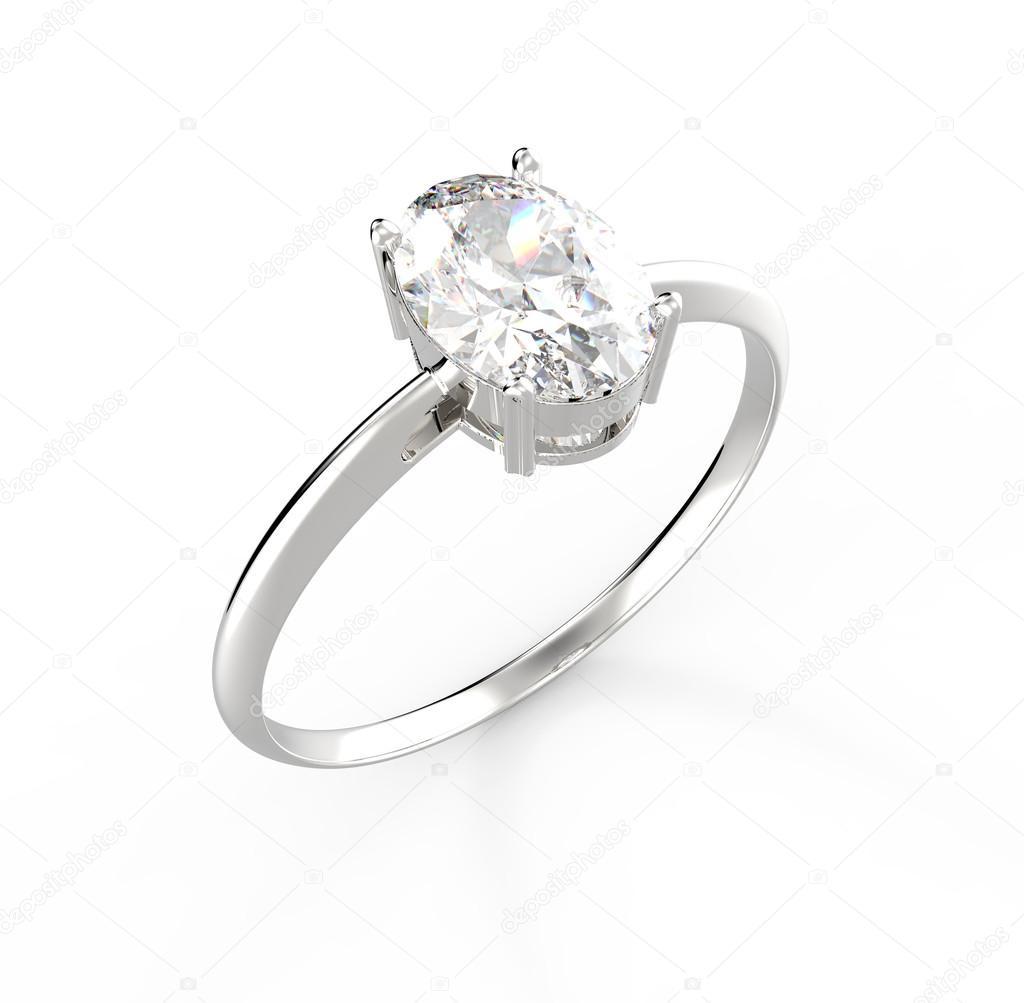 Весільні кільця з діамантами. 3D-рендерінг — Стокове фото — білий ... cec24f702dcd9