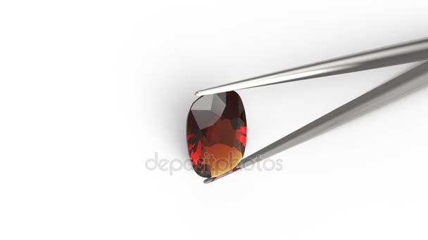 Ovális gyémánt csipesz