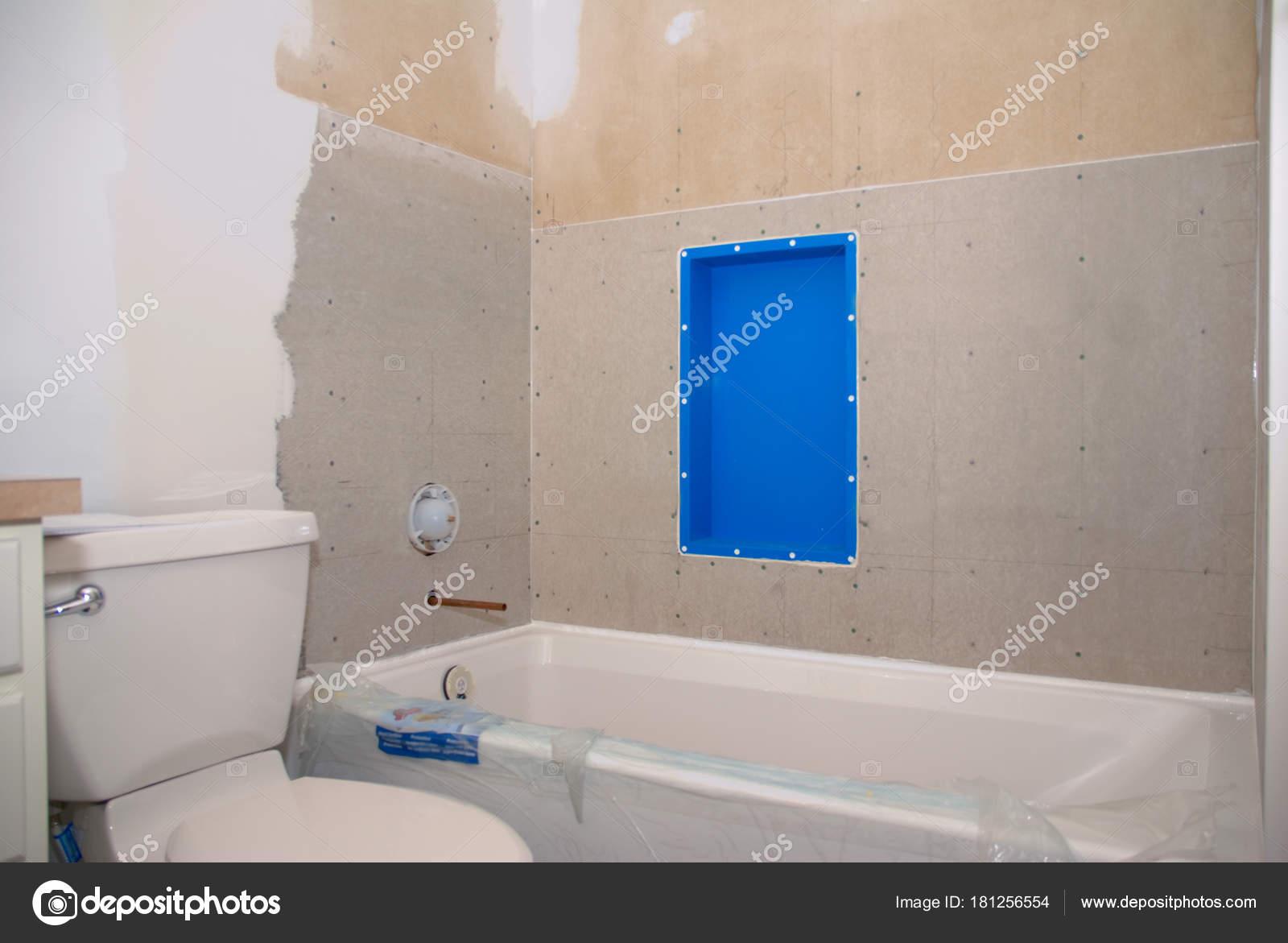 Bad renovieren fertig für Fliesen — Stockfoto © saje #181256554