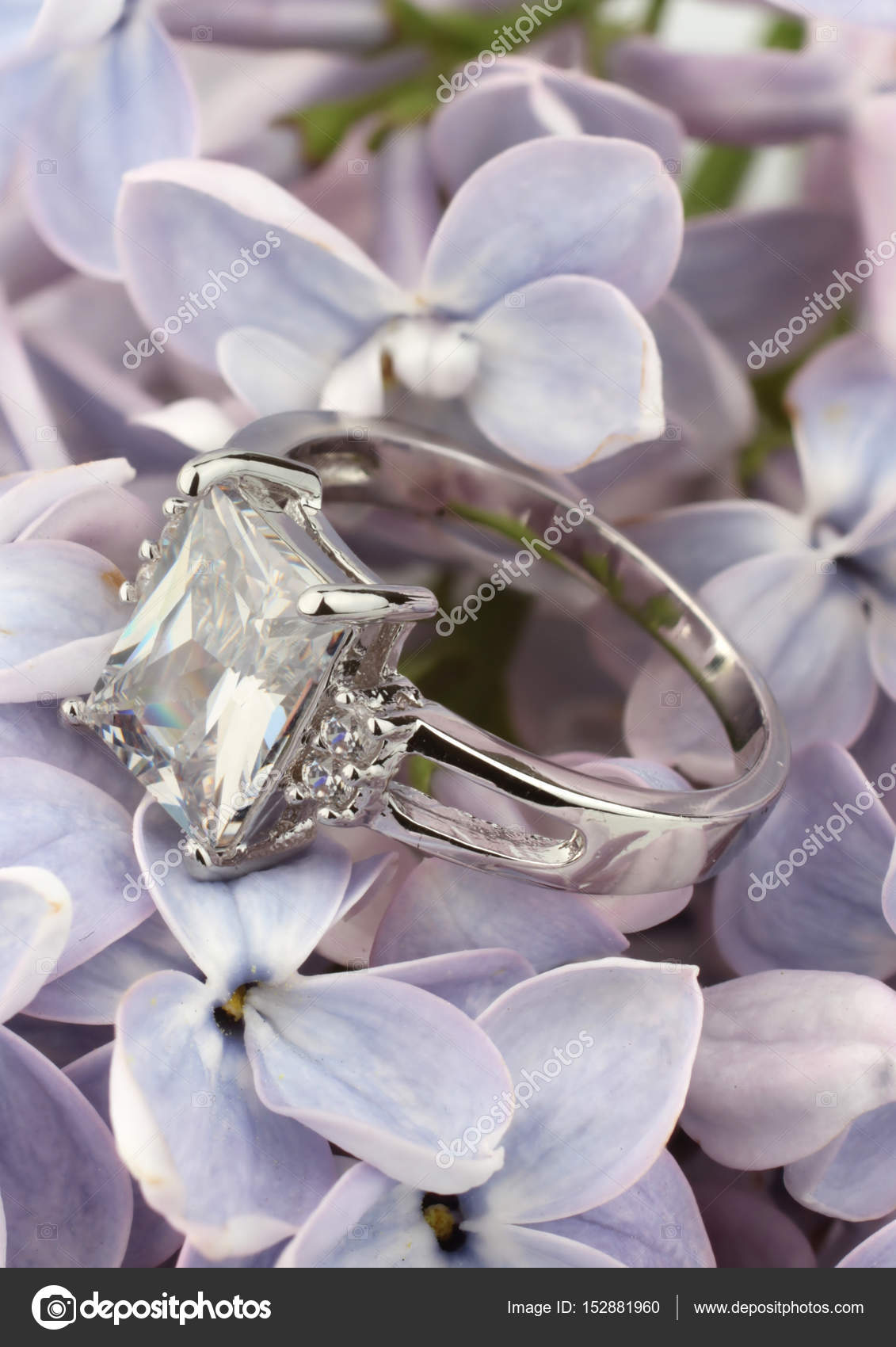 big jewelry violet flower diamond ring stock with photo depositphotos on
