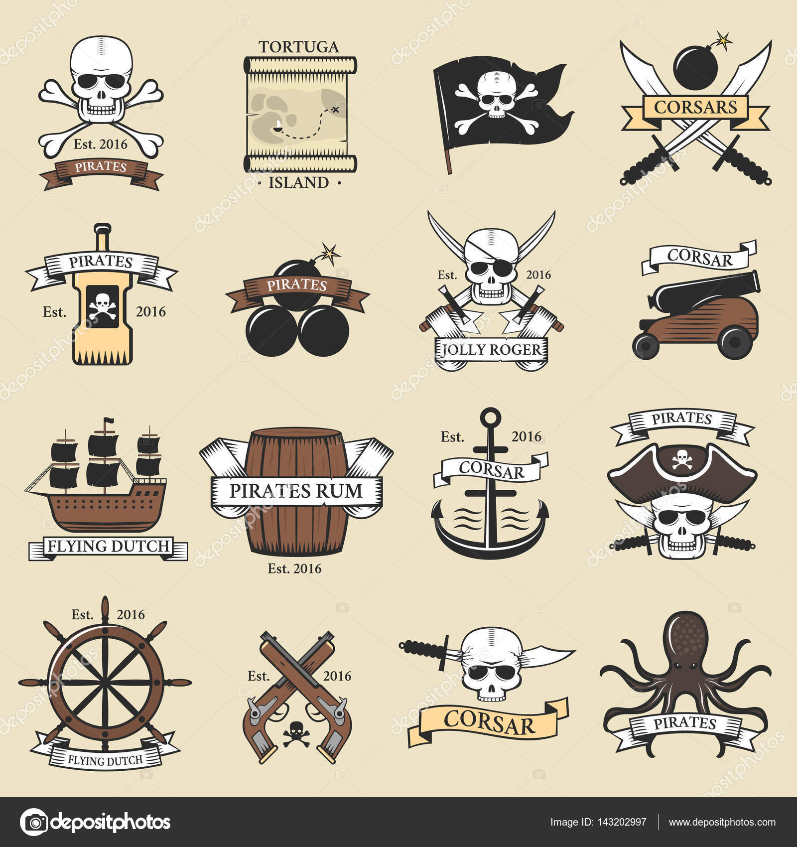 Modern professional pirate logo marine badges nautical sword old modern professional pirate logo marine badges nautical sword old skeleton banner template and skull roger sea pronofoot35fo Images