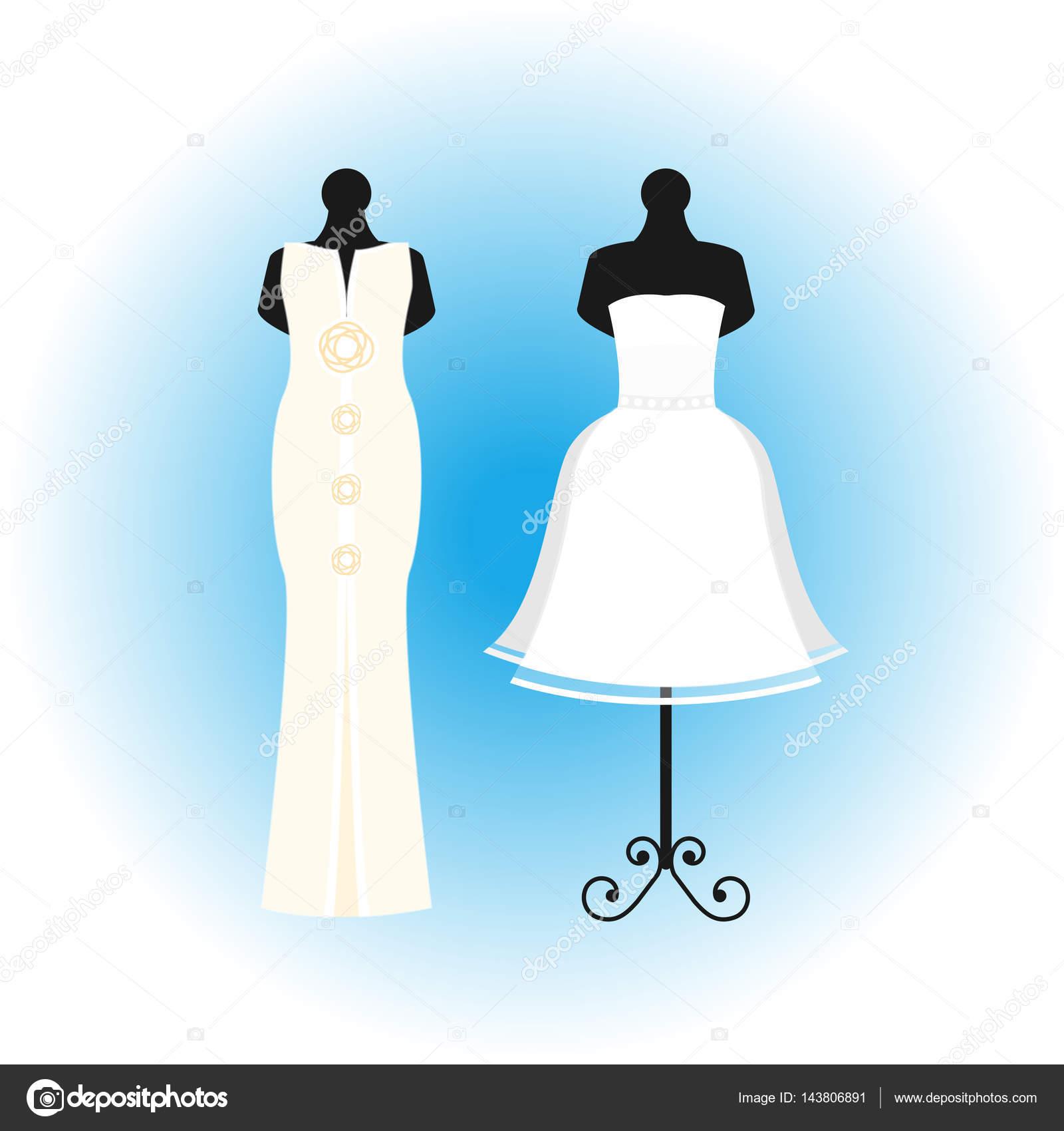 Ilustración de vector de elegancia estilo celebración del vestido de ...