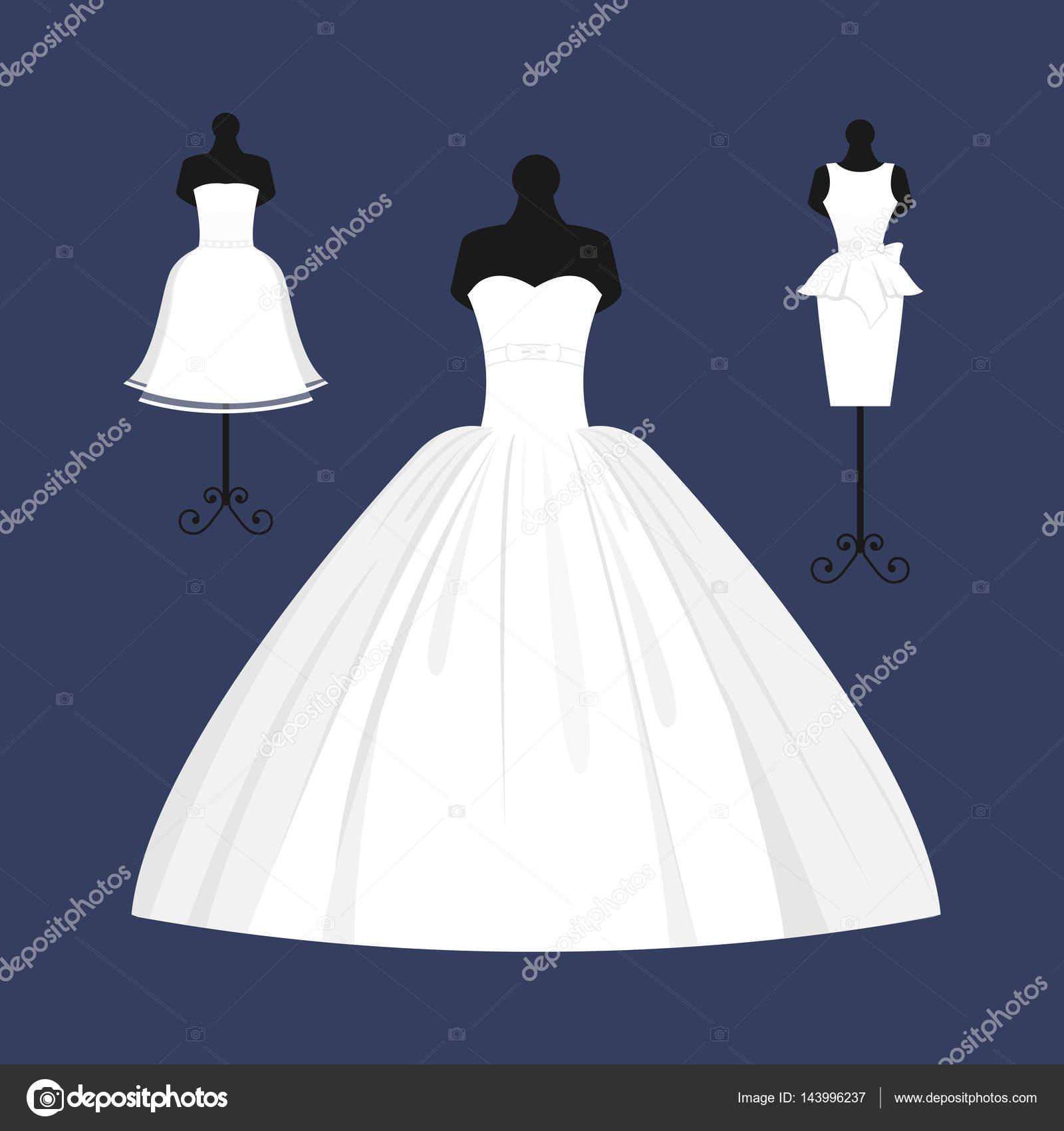 Hochzeit Braut Kleid Eleganz Stil Feier Vektor-illustration ...