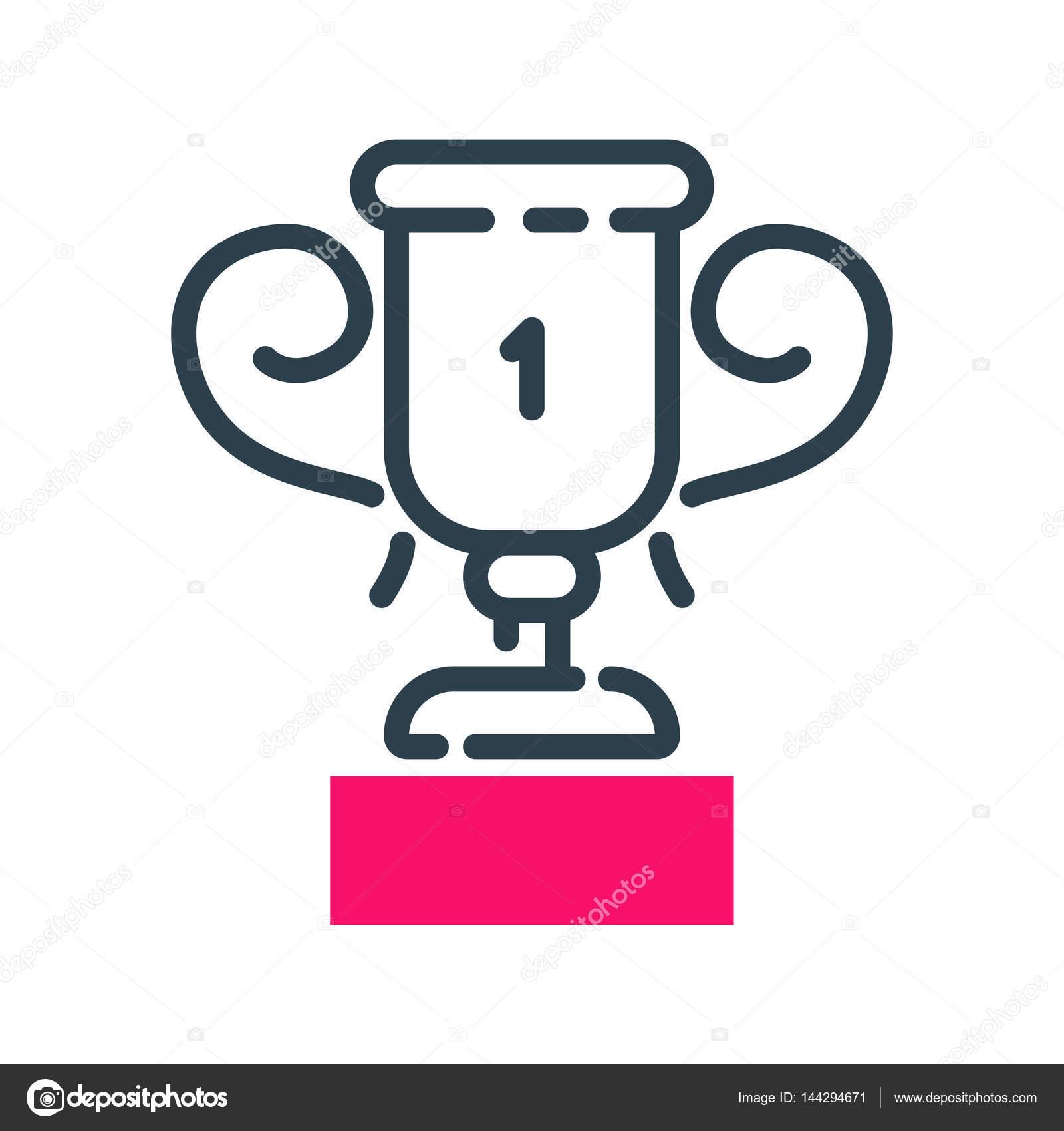 Motivación concepto ganador Copa icono negocios estrategia ...