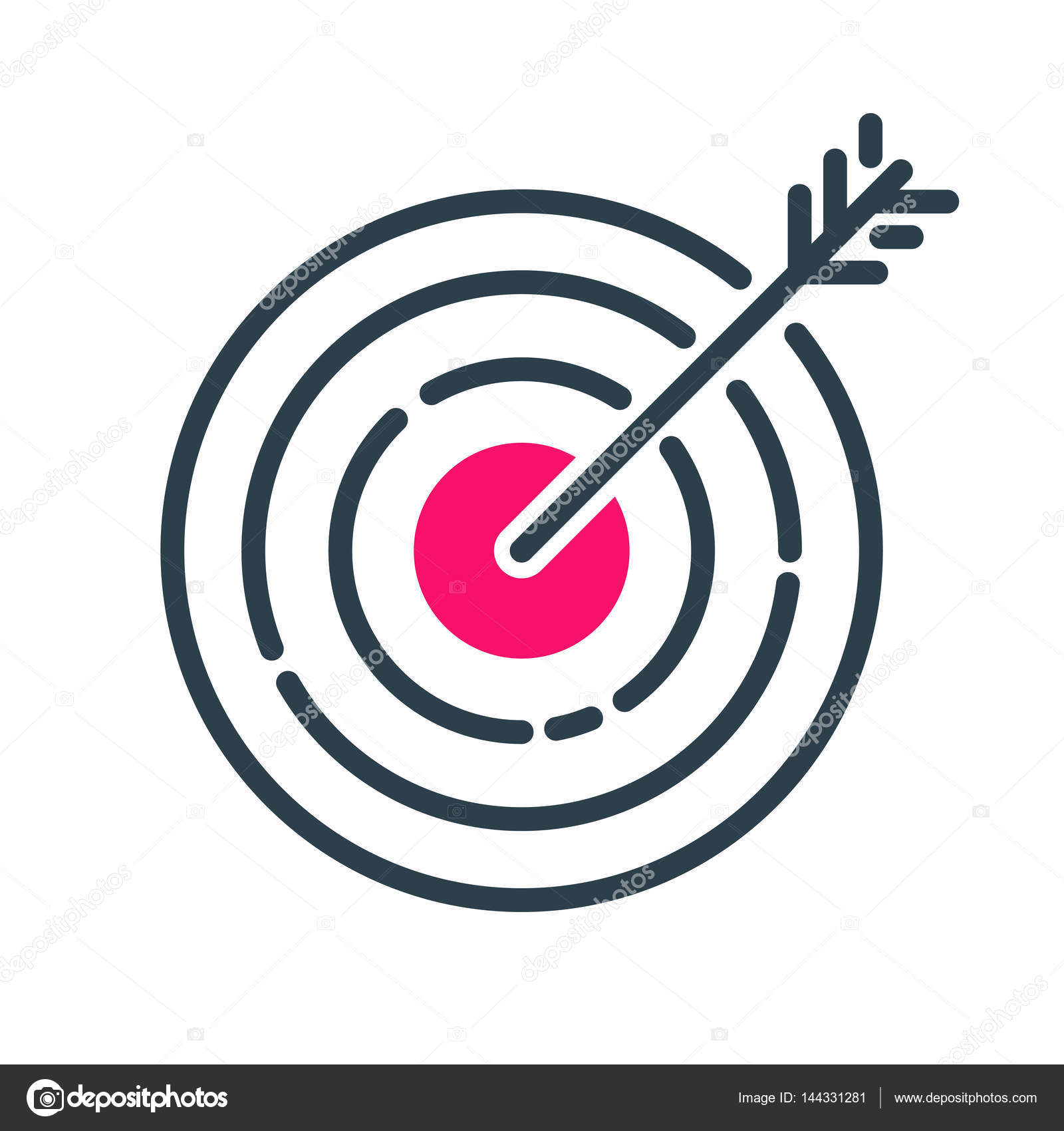 Motivation concept target chart icon business strategy development motivation concept target chart icon business strategy development design and management leadership idea creativity office training geenschuldenfo Images