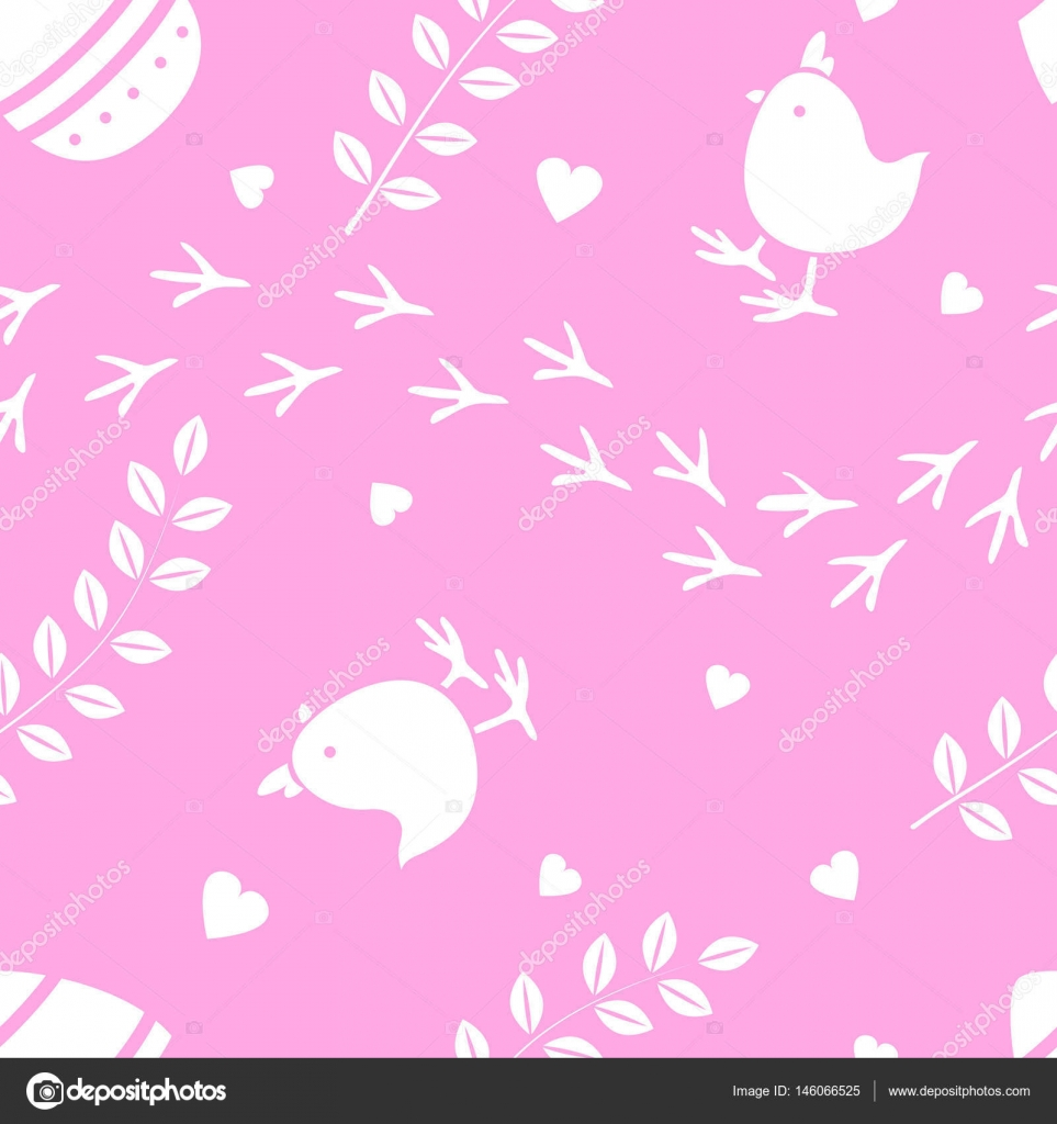 Easter Pink Seamless Pattern Retro Vintage Design Party Holiday