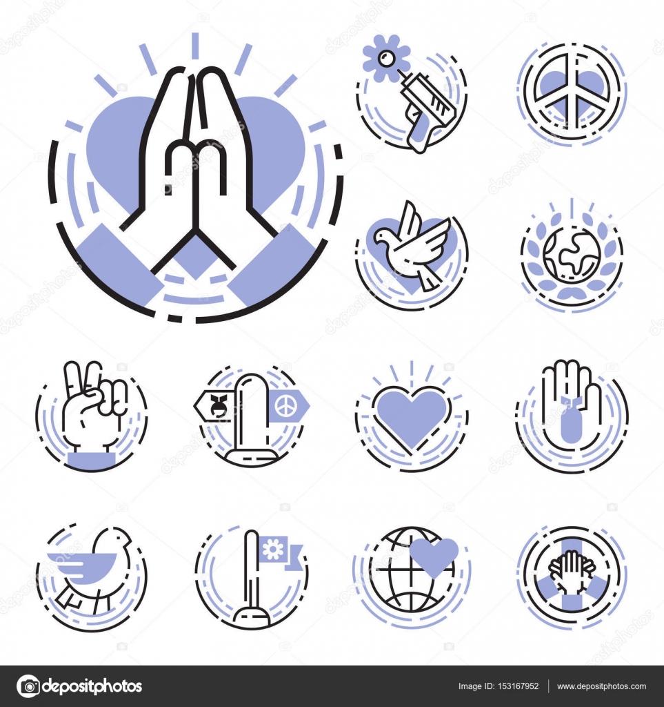 Peace outline thin line icons love world freedom international free peace outline thin line icons love world freedom international free care hope symbols vector illustration biocorpaavc Choice Image