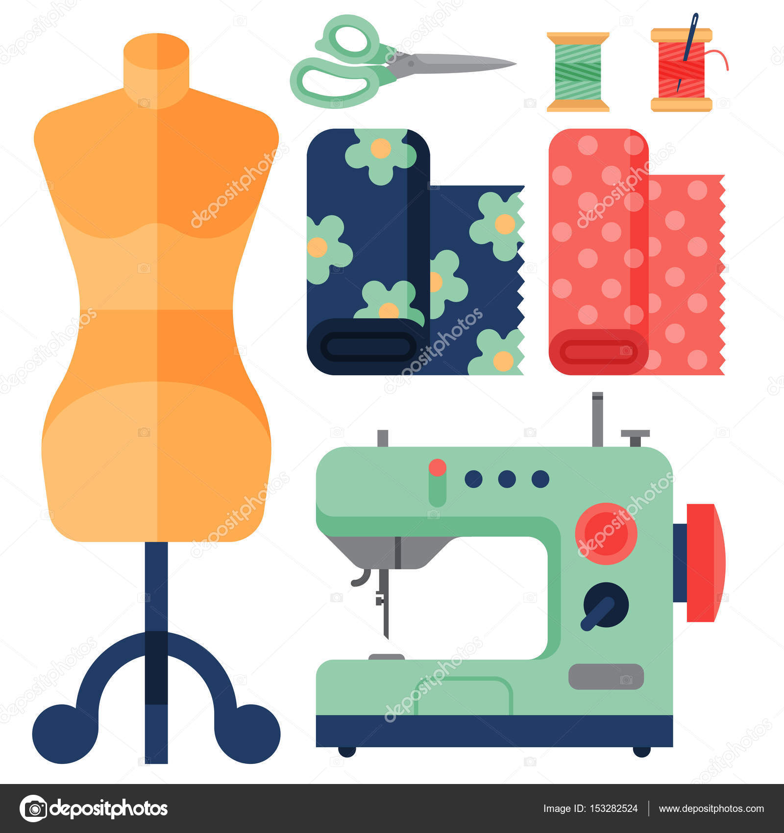 92 tailor with sewing machine clipart retro sewing
