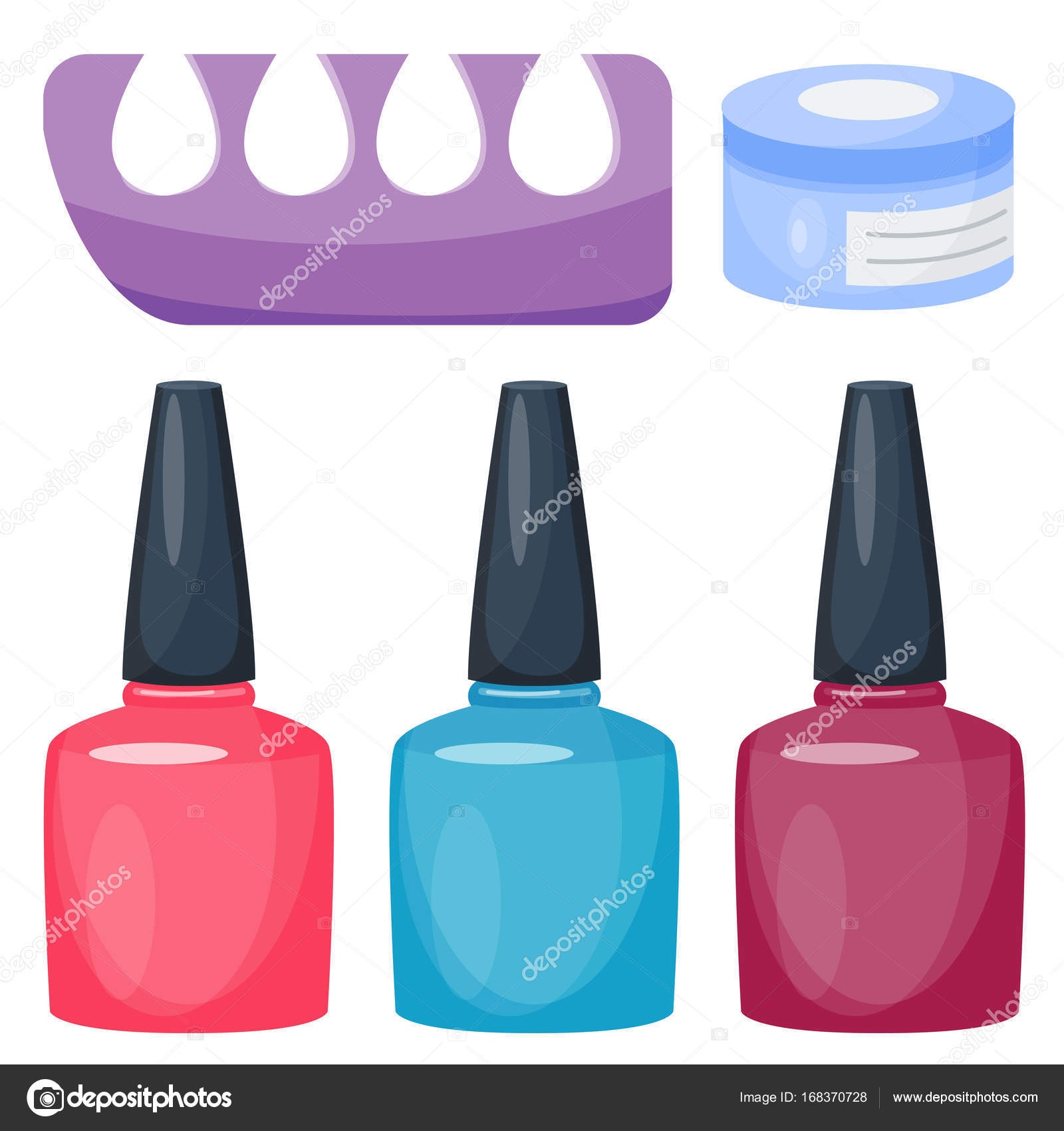 Manicure foot and hand care fingers instruments vector fashion ...
