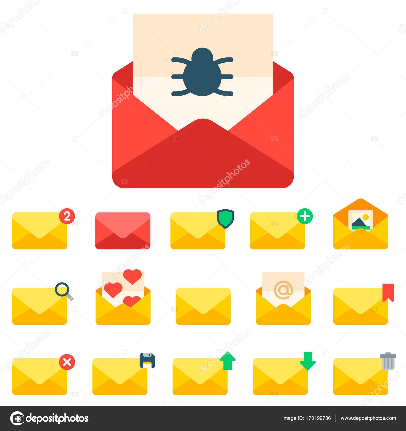 E Mail Umschlag Symbole Kommunikation Korrespondenz Blindabdeckung