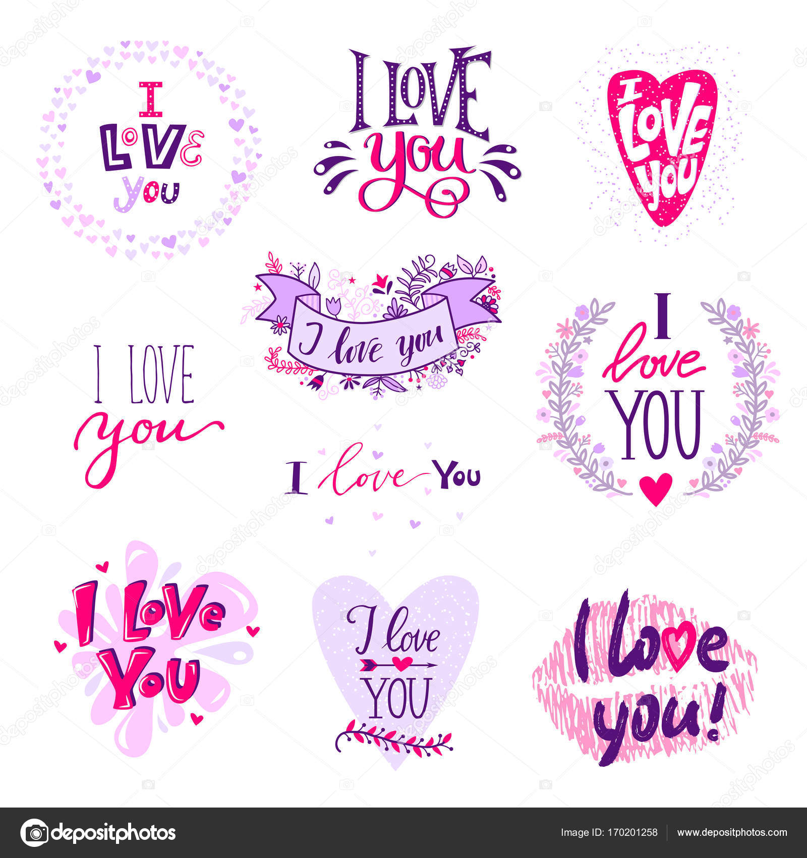 Eu Te Amo Caligrafia Texto Frases Dia Dos Namorados Ou Casamento