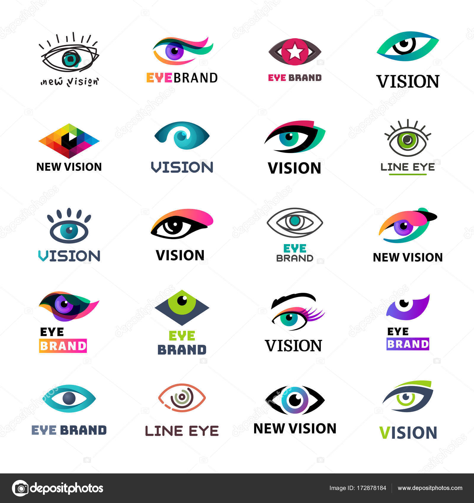 eye blinker business icon glimmer template logo idea startup light