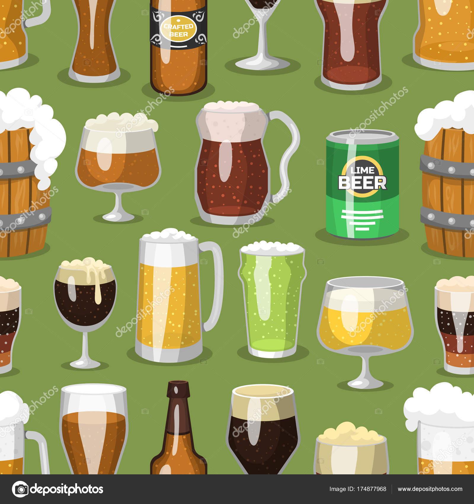 Alkohol Bier Glas Vektor Illustration Erfrischung Bierbrauerei und ...