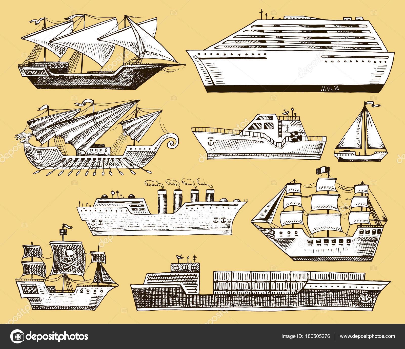 Velero de nave vector barco buque de crucero liner o vapor de ...