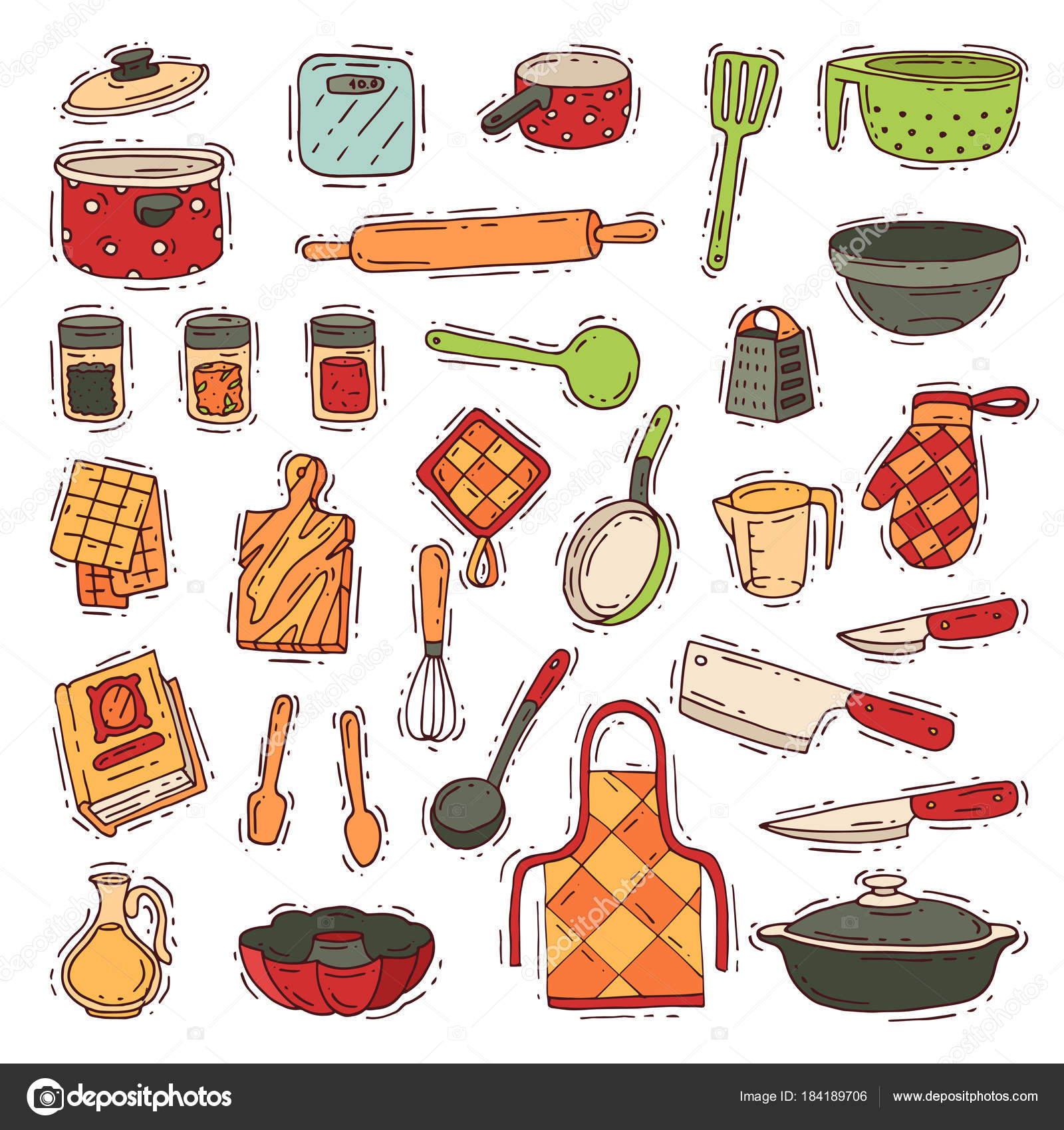 Kitchenware vector cookware for cooking and kitchen utensils or ...