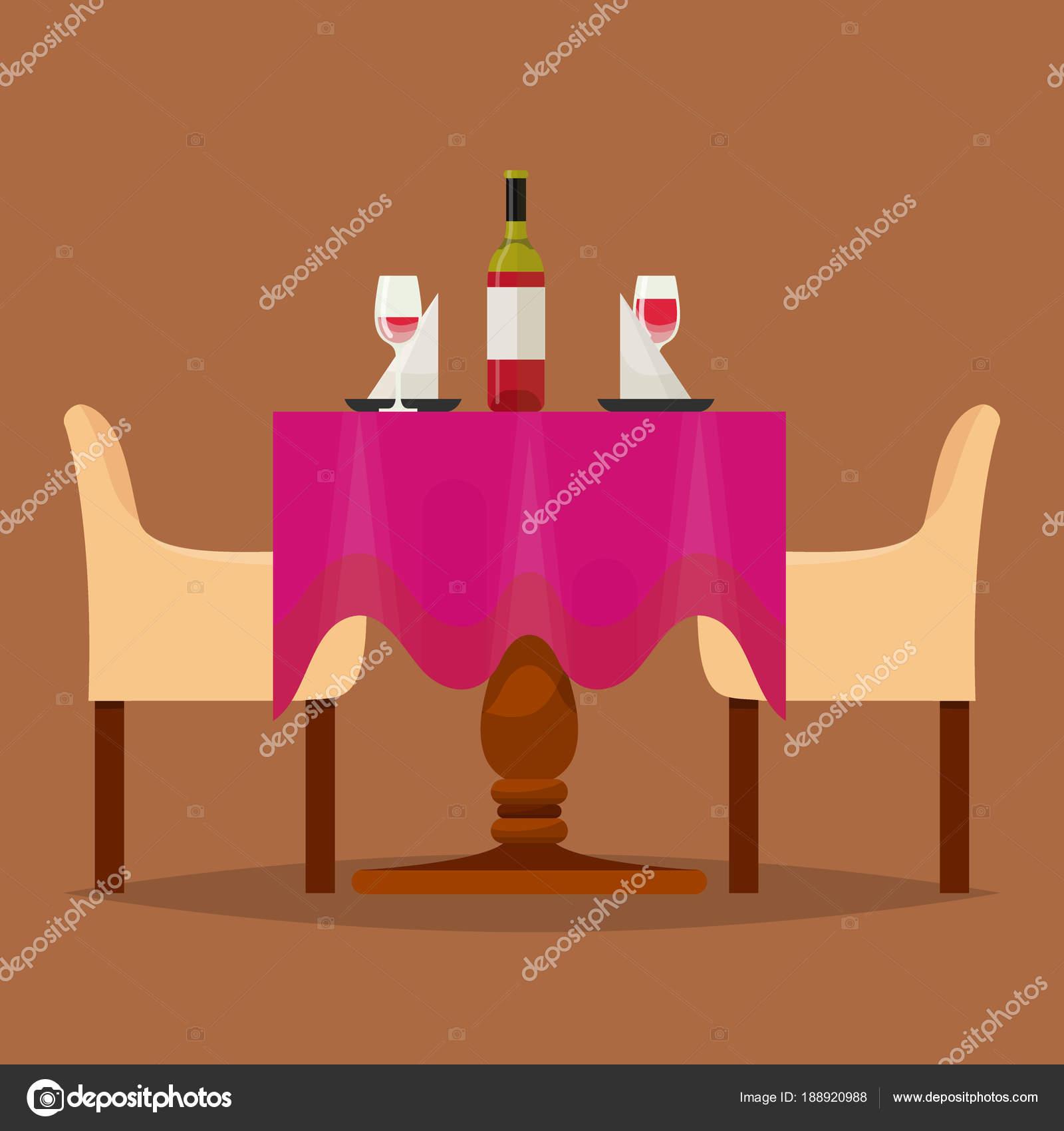Tische im Restaurant Vektor Mittagsmenü Dinner-Date im Café mit ...
