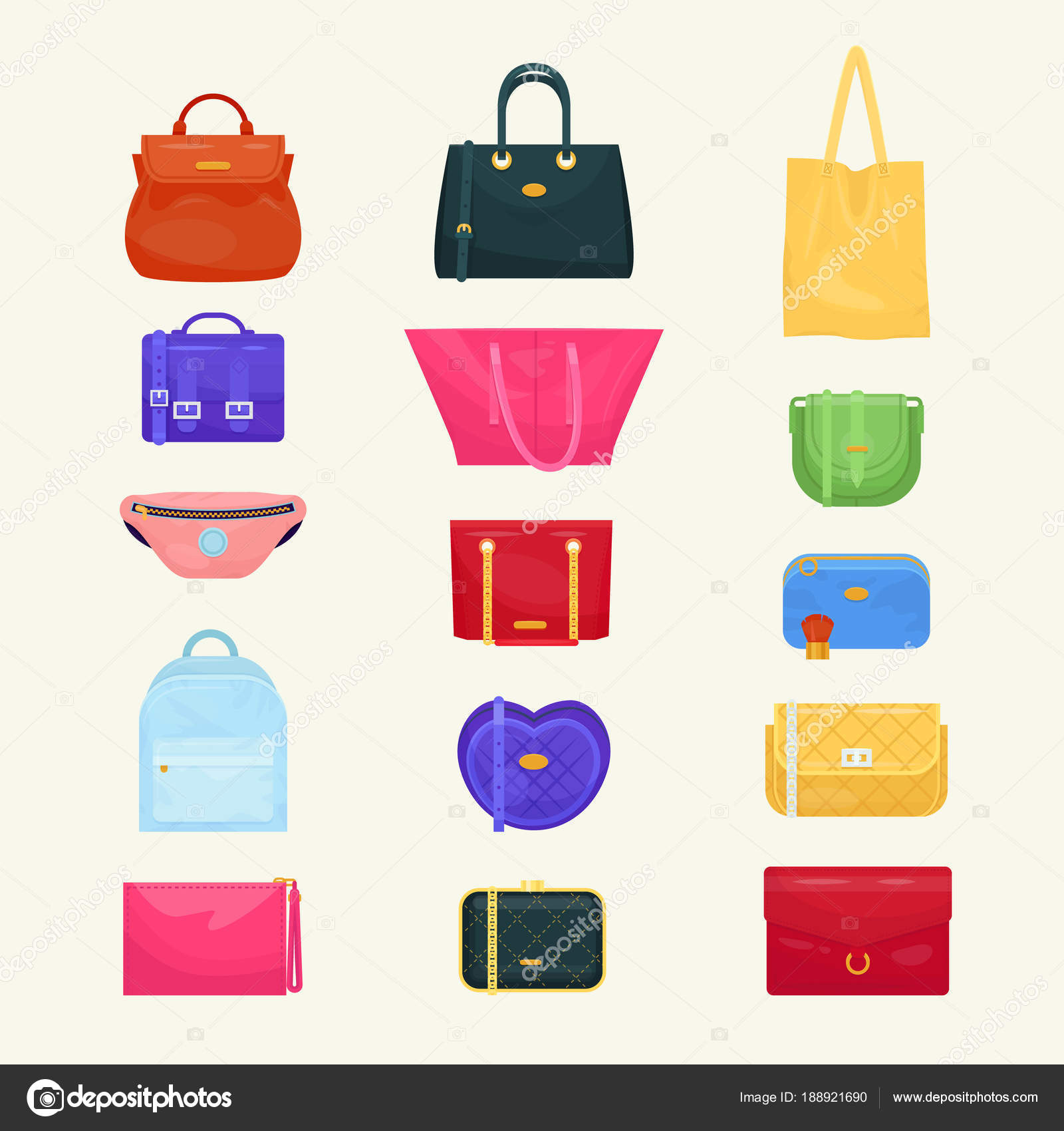 Woman bag vector girls handbag or purse and shopping-bag or baggy package  from fashion store illustration set of shoppers bagged package isolated on  ... 3455b02cdb