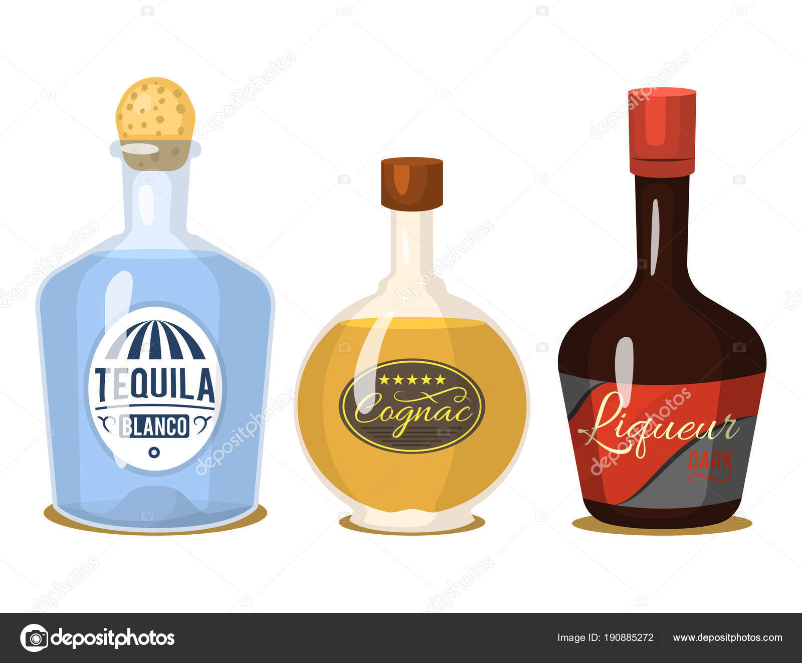 Botella De Cerveza Dibujo: Fuerte De Alcohol Bebidas En Botellas