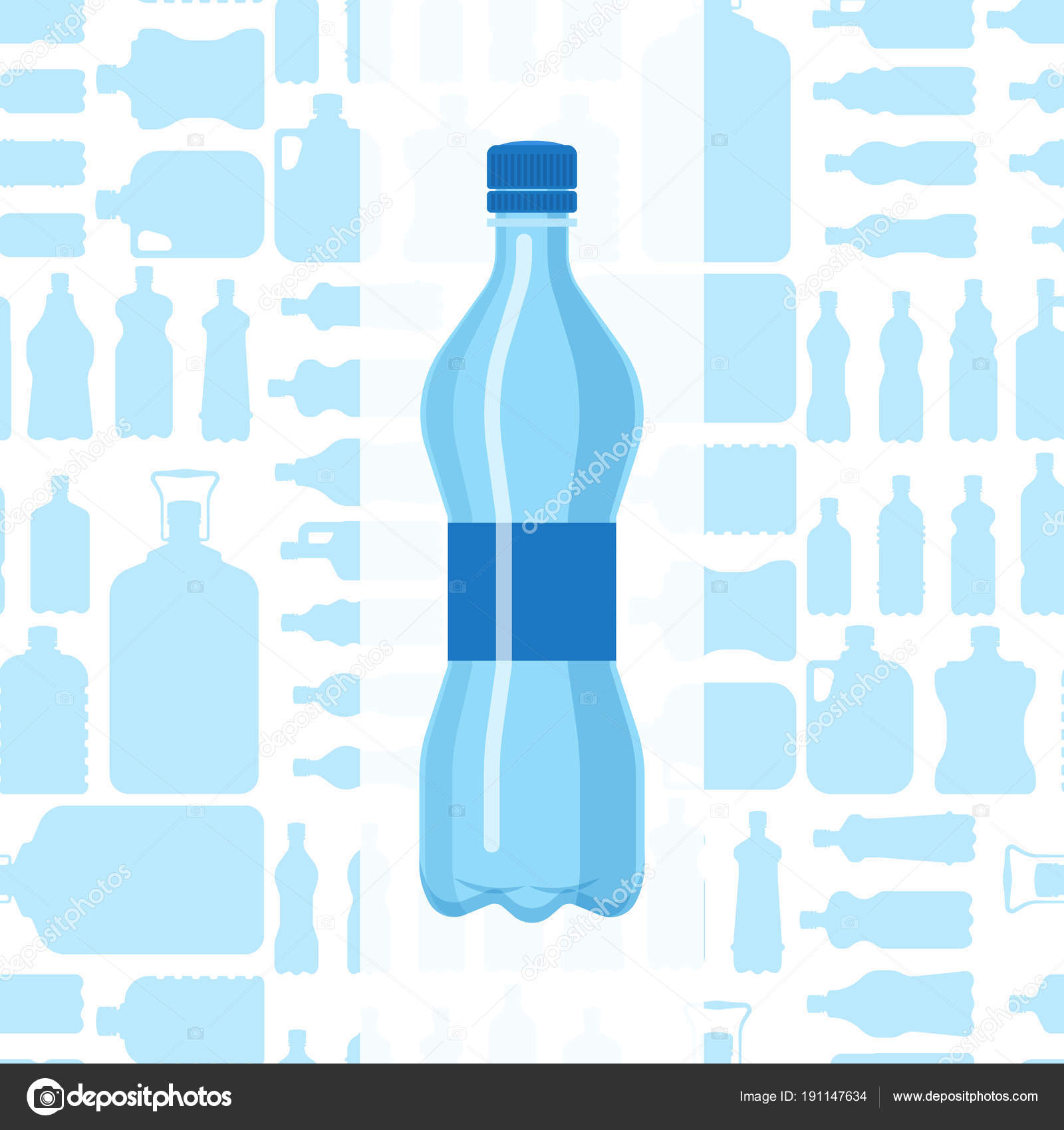 plastic water bottle vector blank brochure nature blue clean liquid aqua fluid blank template silhouette template