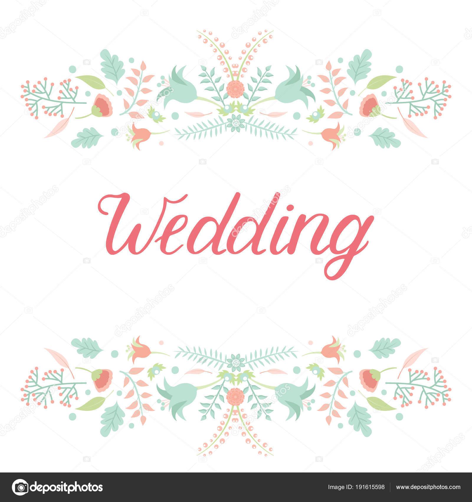 Wedding invitation card vector save the date suite with flower wedding invitation card vector save the date suite with flower templates day marriage handmade lettering print layout design illustration stopboris Choice Image