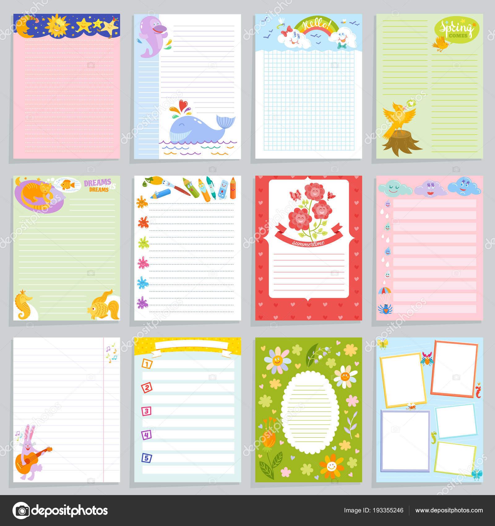 Kinder Tagebuch Vektor kindisch Notebook leer und könnten ...