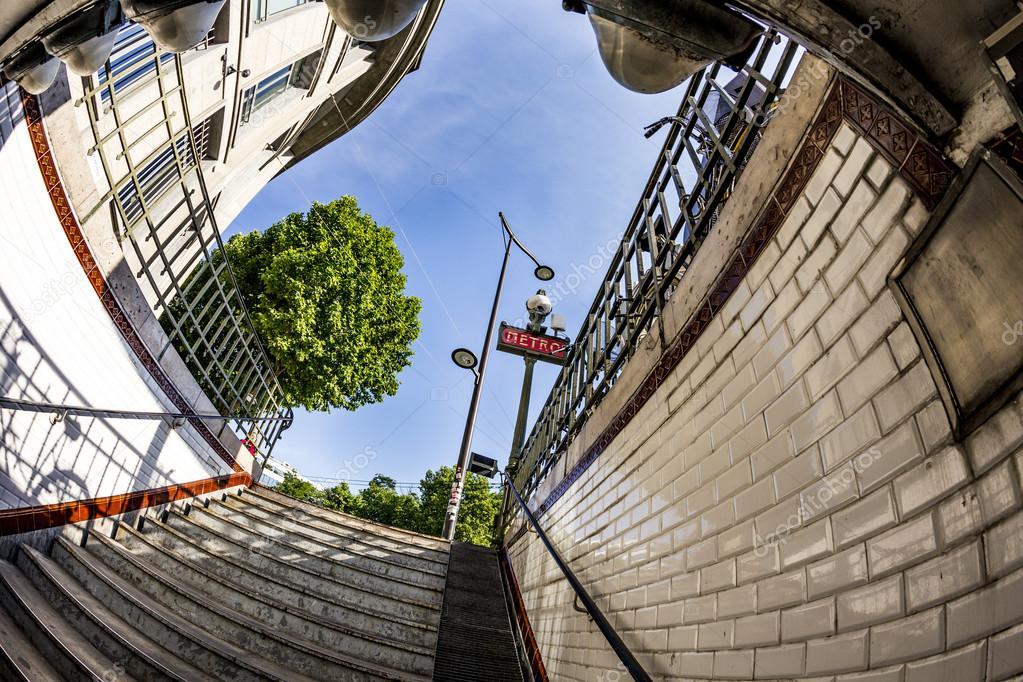 Eingang Des Alten U Bahnstation In Paris Frankreich Stockfoto