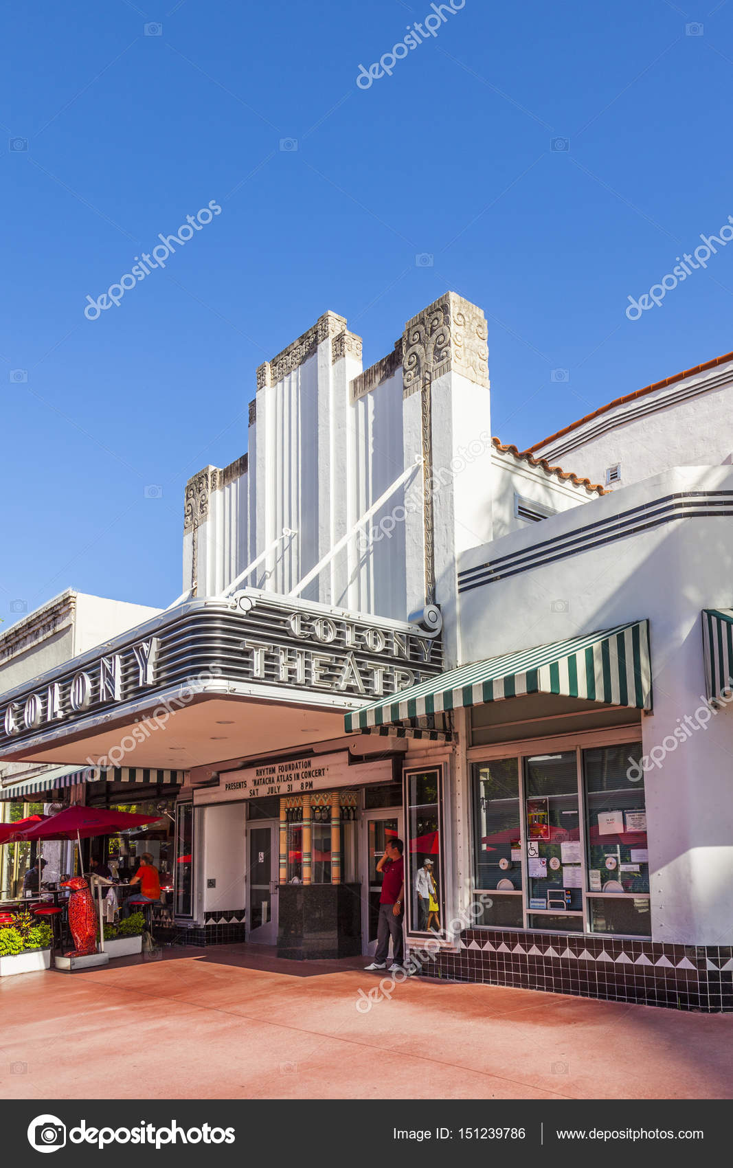 Beruhmte Kolonie Art Deco Theater Im Lincoln Road South Beach Mia