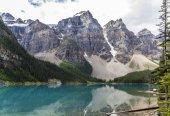 Tó hegyek fák táj: Lake Moraine, Amerikai Egyesült Államok