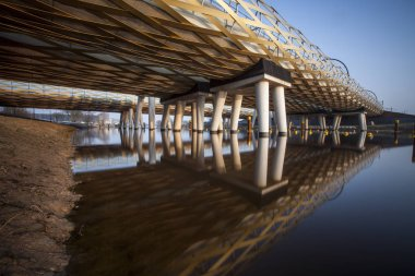 Railway bridge  across a river