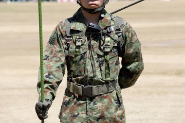 Japanese soldier with military uniform