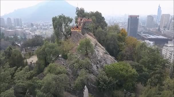 A légi felvétel a Santa Lucia hill, Santiago, Chile