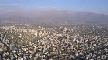 Aerial view of Santiago city in Chile
