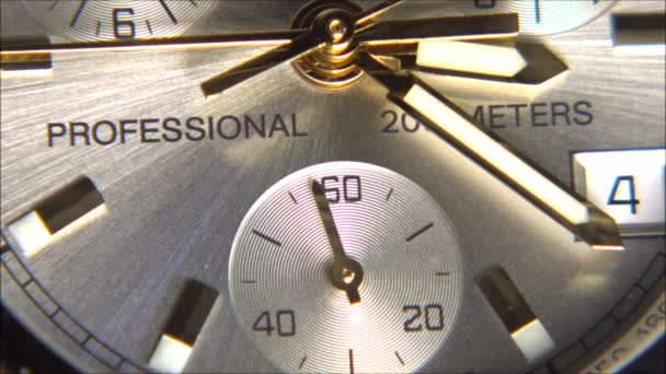 Macro video of a wrist watch