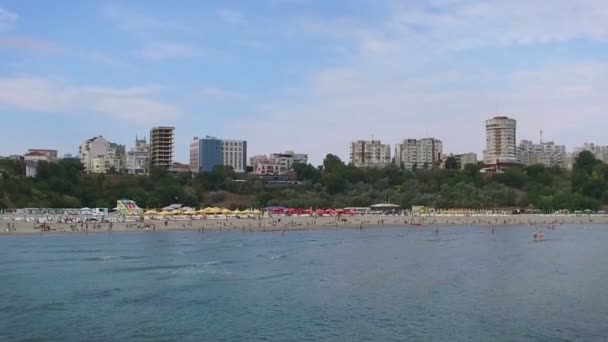 Beach in Constanta, Romania, slow motion tilt