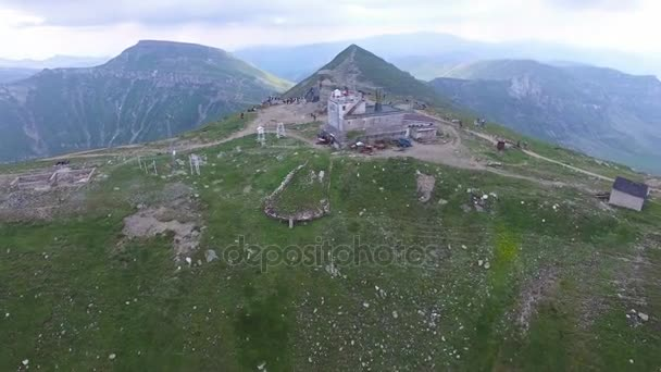 Aerial view of the Omu chalet, Bucegi mountains, Romania