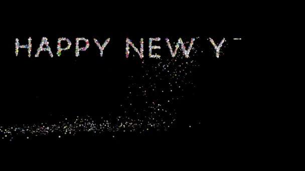 Boldog új évet 2017, holiday elem fekete ellen