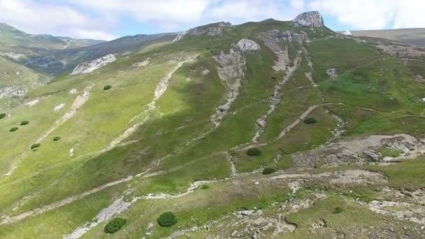 Aerial view of Bucegi plateau, Romania