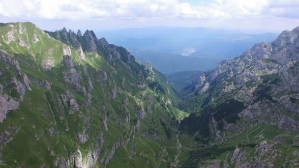 Bucegi mountains, Romania, aerial view