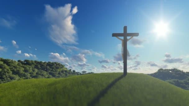 Jézus a határokon át kék ég, a vallás fogalma