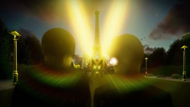 Romantisch zu zweit am Eiffelturm in Paris