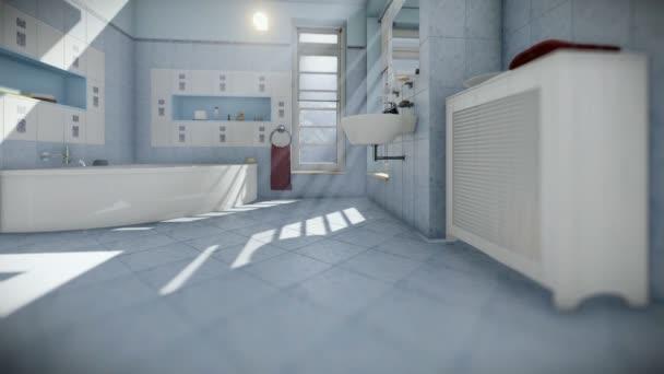 Moderní koupelny interiér, naklonění fotoaparátu