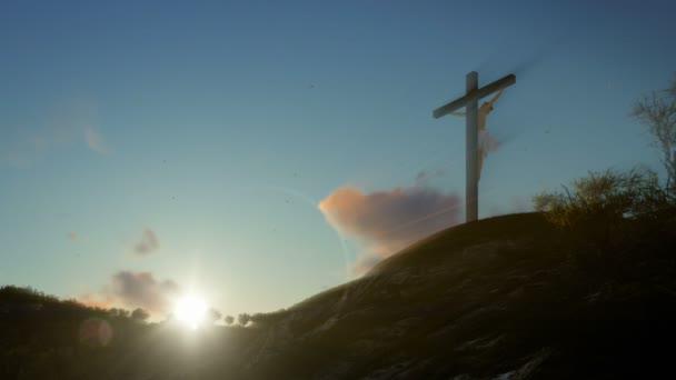 Jézus kereszt napkeltekor