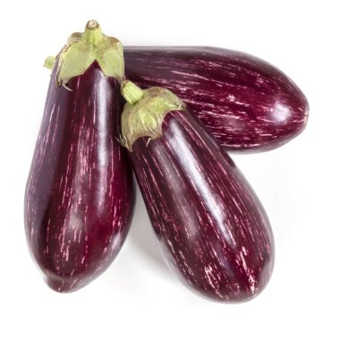 Graffiti Eggplants Isolated Top View