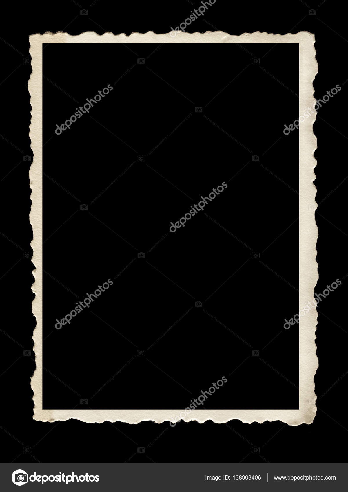 Alten überbacken Fotorahmen isoliert auf schwarz — Stockfoto ...
